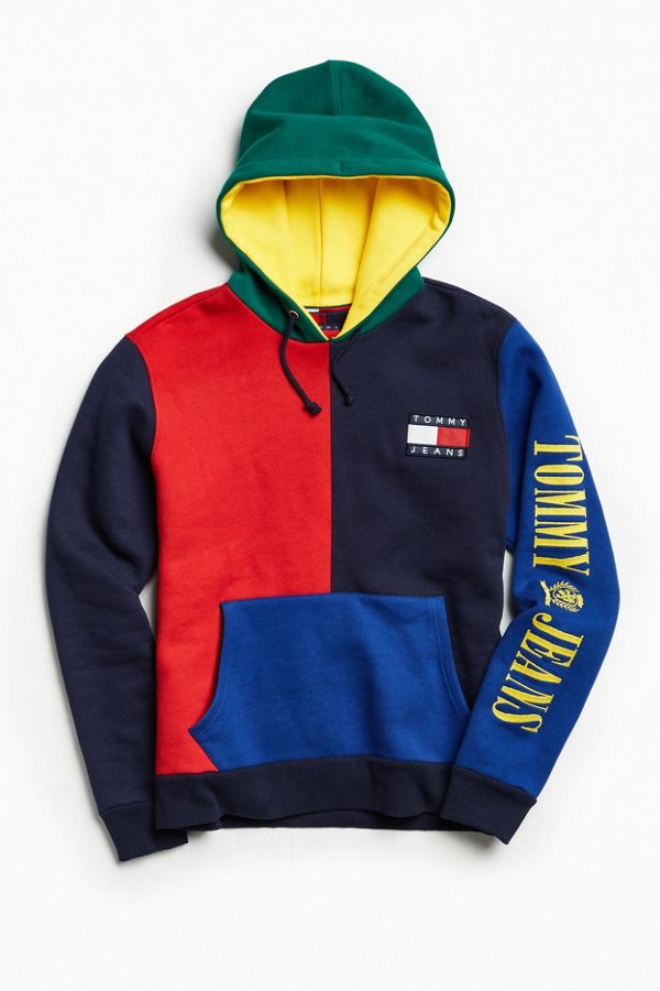 Tommy Hilfiger  90s Colorblock Hoodie Sweatshirt  ec161babea