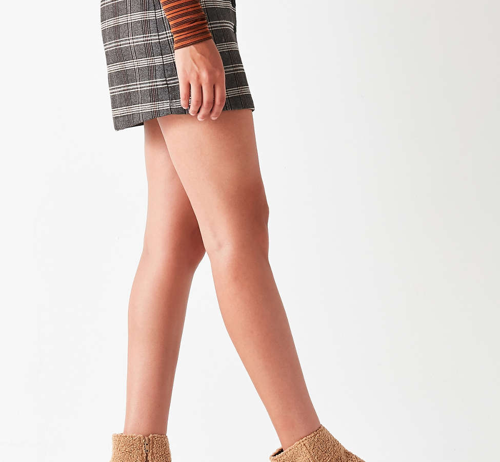 Slide View: 2: Timber Faux Sherpa Ankle Boot