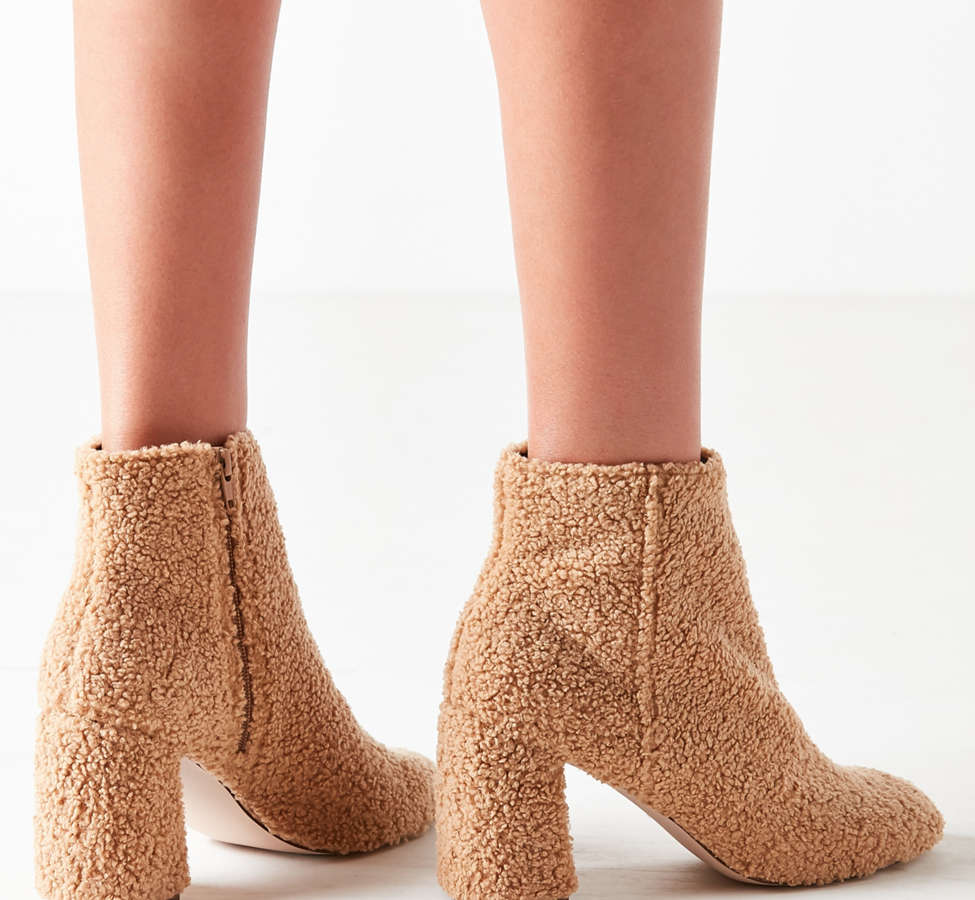 Slide View: 3: Timber Faux Sherpa Ankle Boot