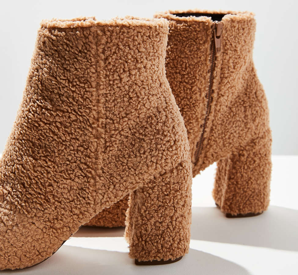 Slide View: 4: Timber Faux Sherpa Ankle Boot