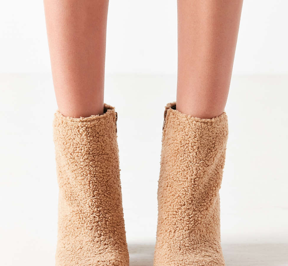 Slide View: 5: Timber Faux Sherpa Ankle Boot