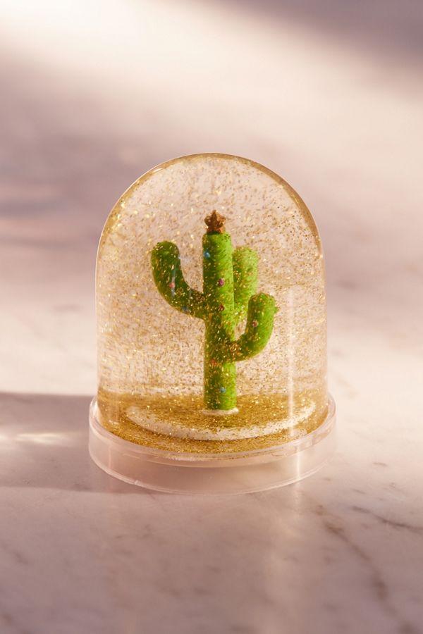 cactus christmas tree snow globe