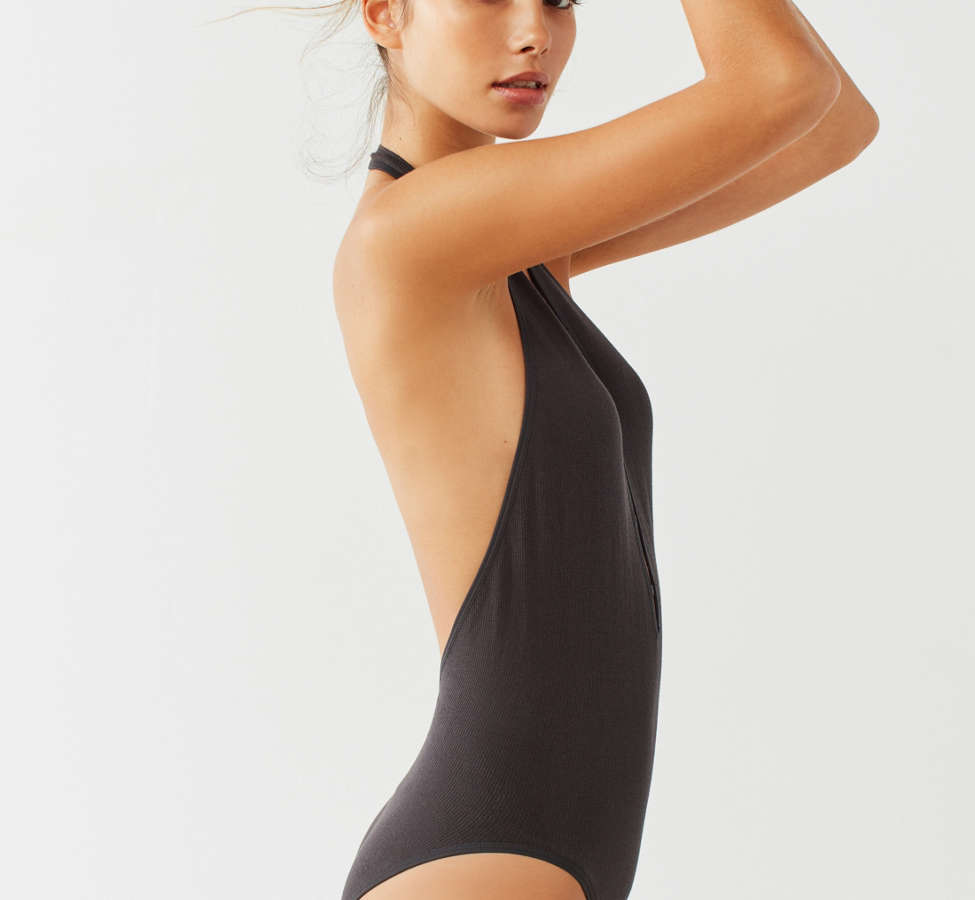 Slide View: 2: Out From Under Sophie Seamless Halter Bodysuit