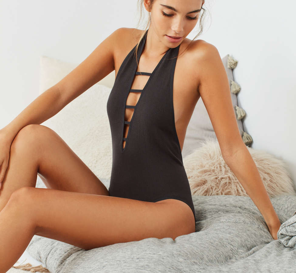 Slide View: 3: Out From Under Sophie Seamless Halter Bodysuit