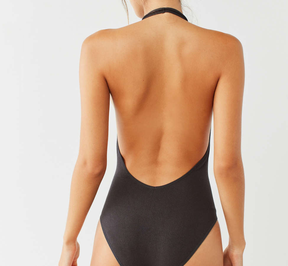 Slide View: 4: Out From Under Sophie Seamless Halter Bodysuit