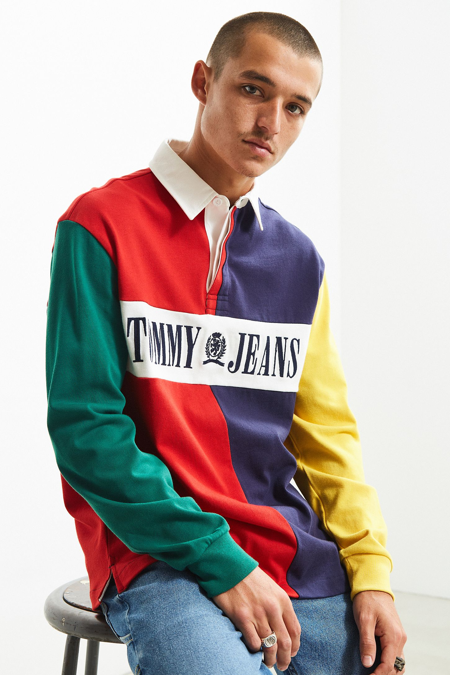 Tommy Hilfiger 90s Colorblocked Rugby Shirt Urban Outfitters