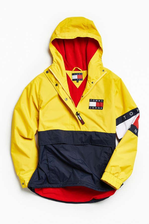 tommy hilfiger colorblocked pullover windbreaker jacket. Black Bedroom Furniture Sets. Home Design Ideas
