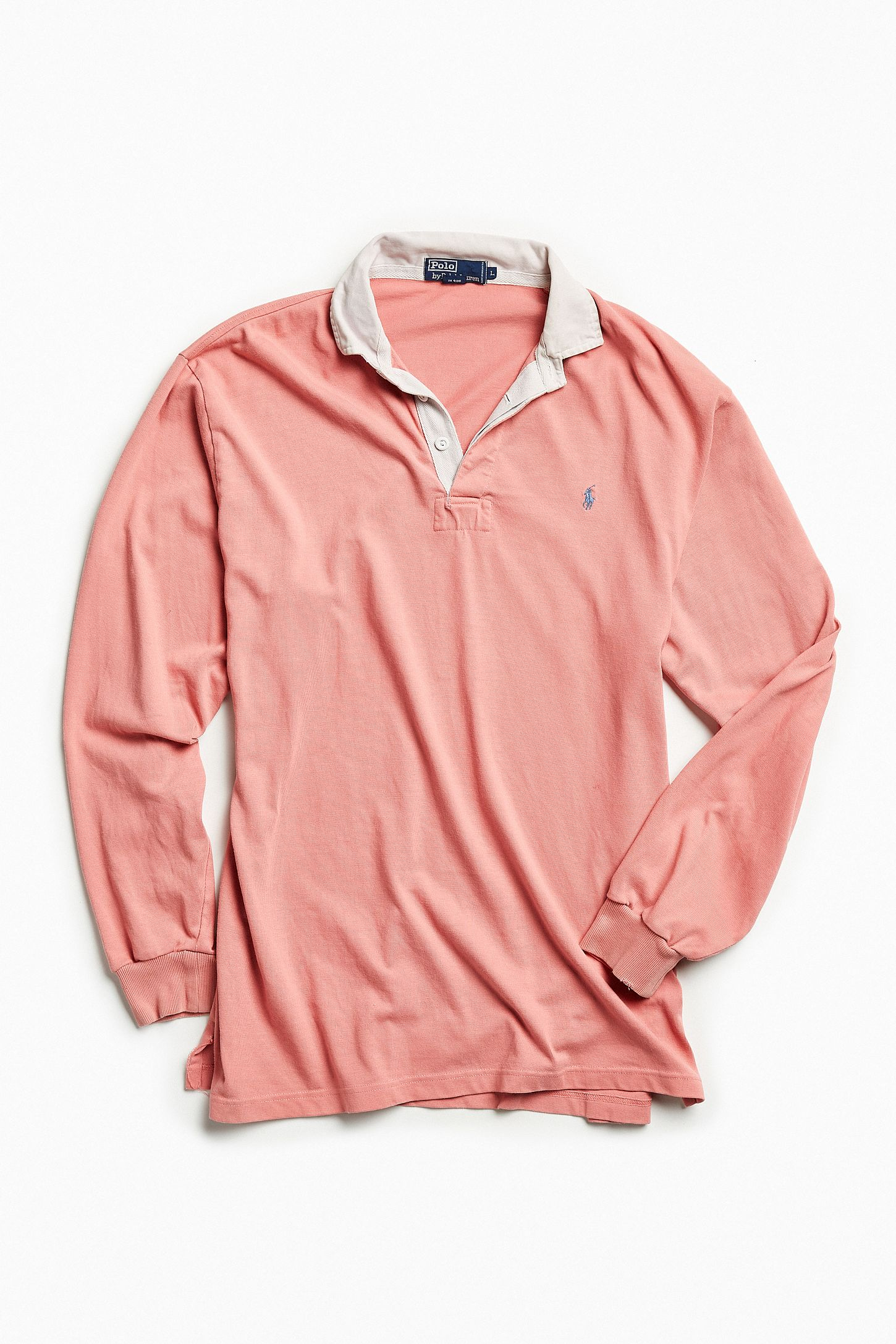 Vintage Polo Ralph Lauren Rose Rugby Shirt   Urban Outfitters Canada b3776d1b42c