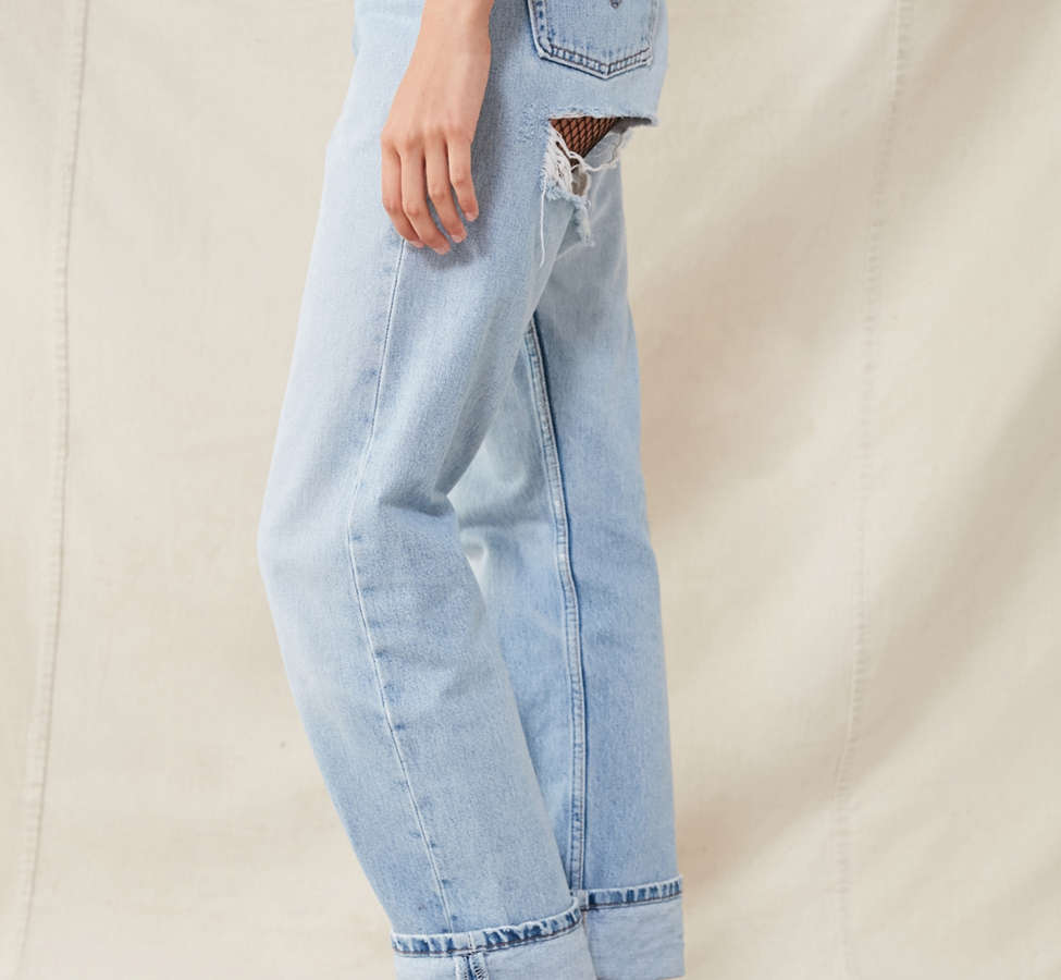 Slide View: 5: Urban Renewal Recycled Shredded-Back Levi's Jean