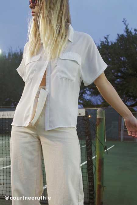 UO Short Sleeve Pocket Button-Down Shirt