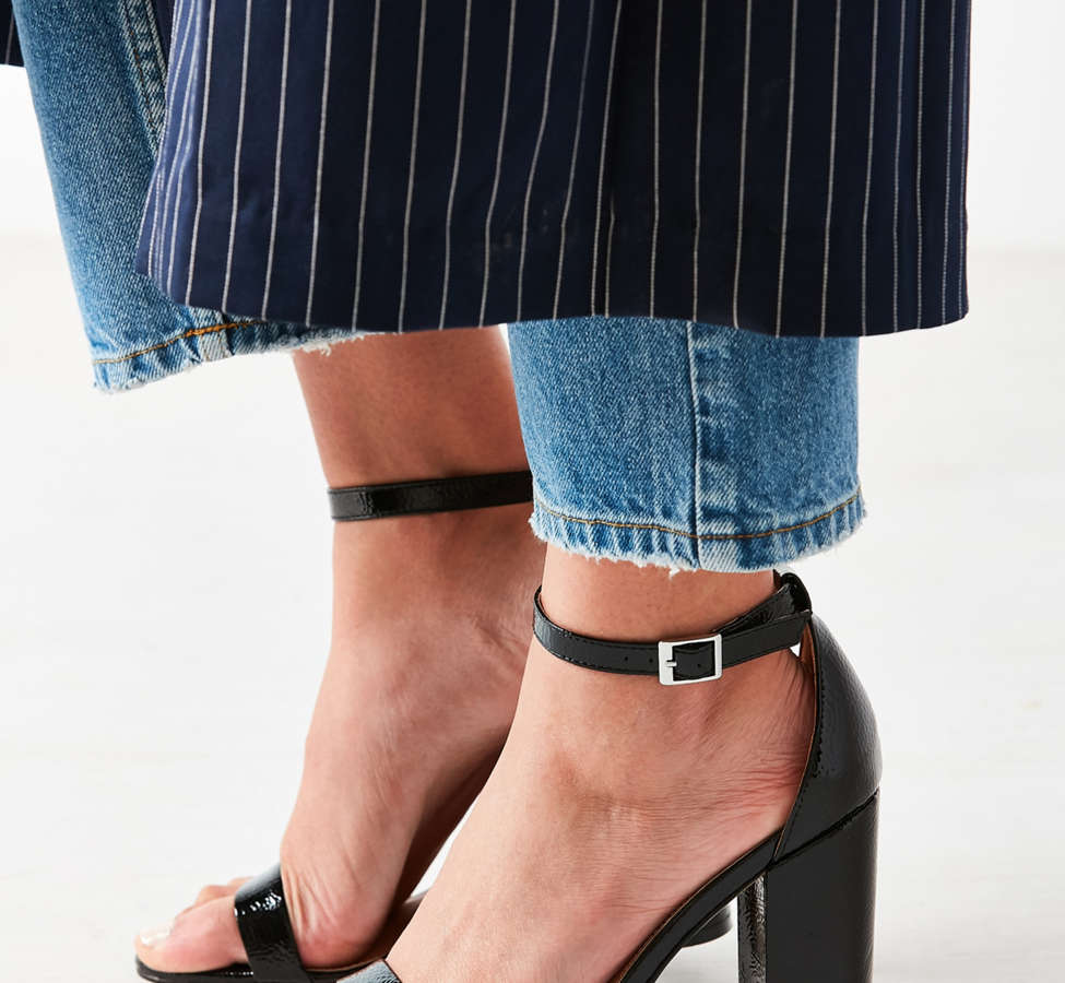 Slide View: 1: Thin Strap Patent Heel