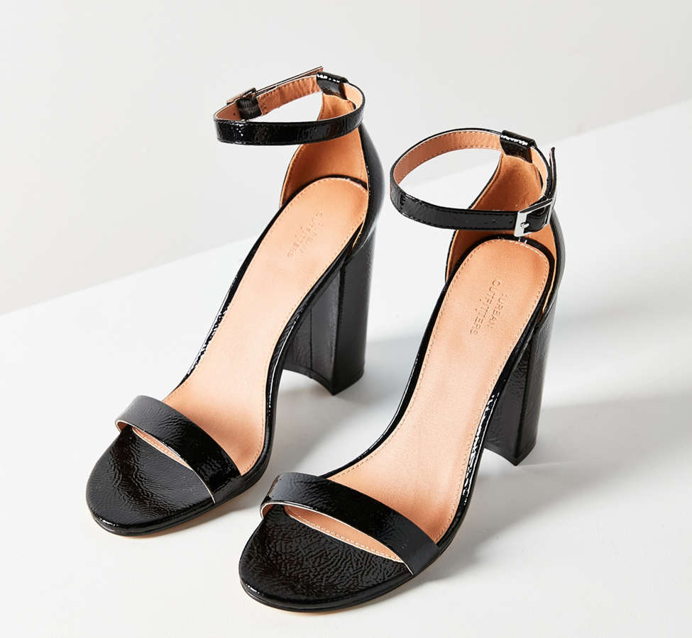 Slide View: 2: Thin Strap Patent Heel