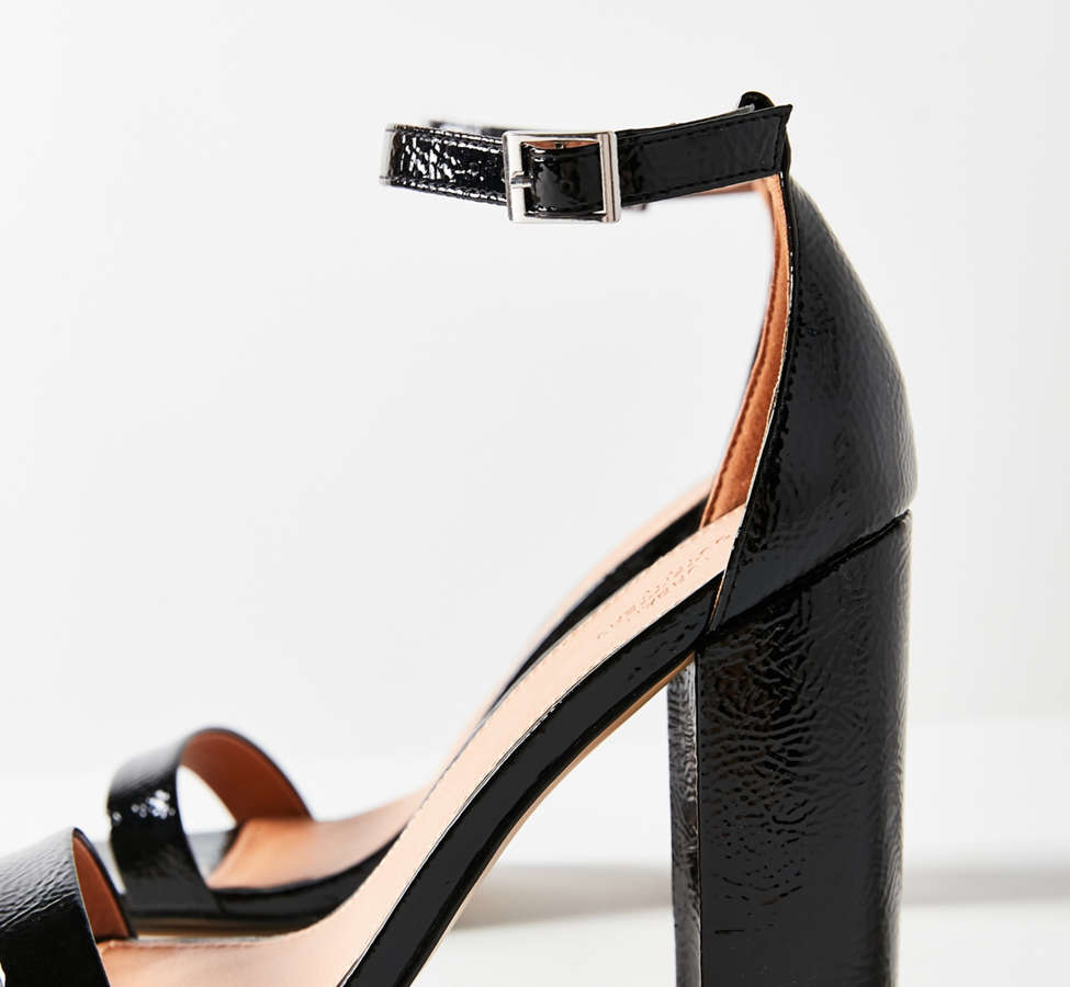 Slide View: 4: Thin Strap Patent Heel