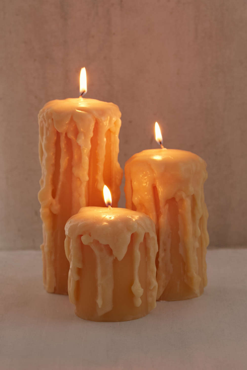 Slide View: 3: Melted Pillar Candle