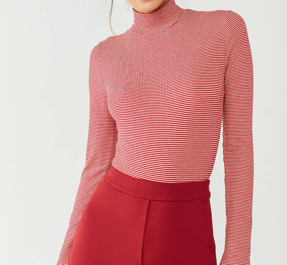 Slide View: 5: Out From Under Ribbed Turtleneck Bodysuit