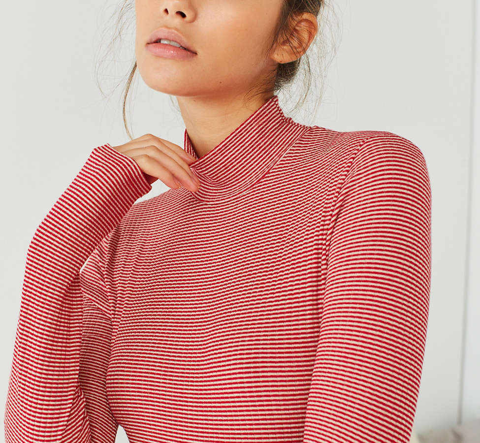 Slide View: 6: Out From Under Ribbed Turtleneck Bodysuit
