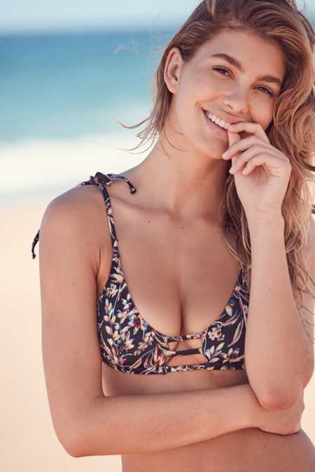 Out From Under Winnie Printed Strappy Bikini Top