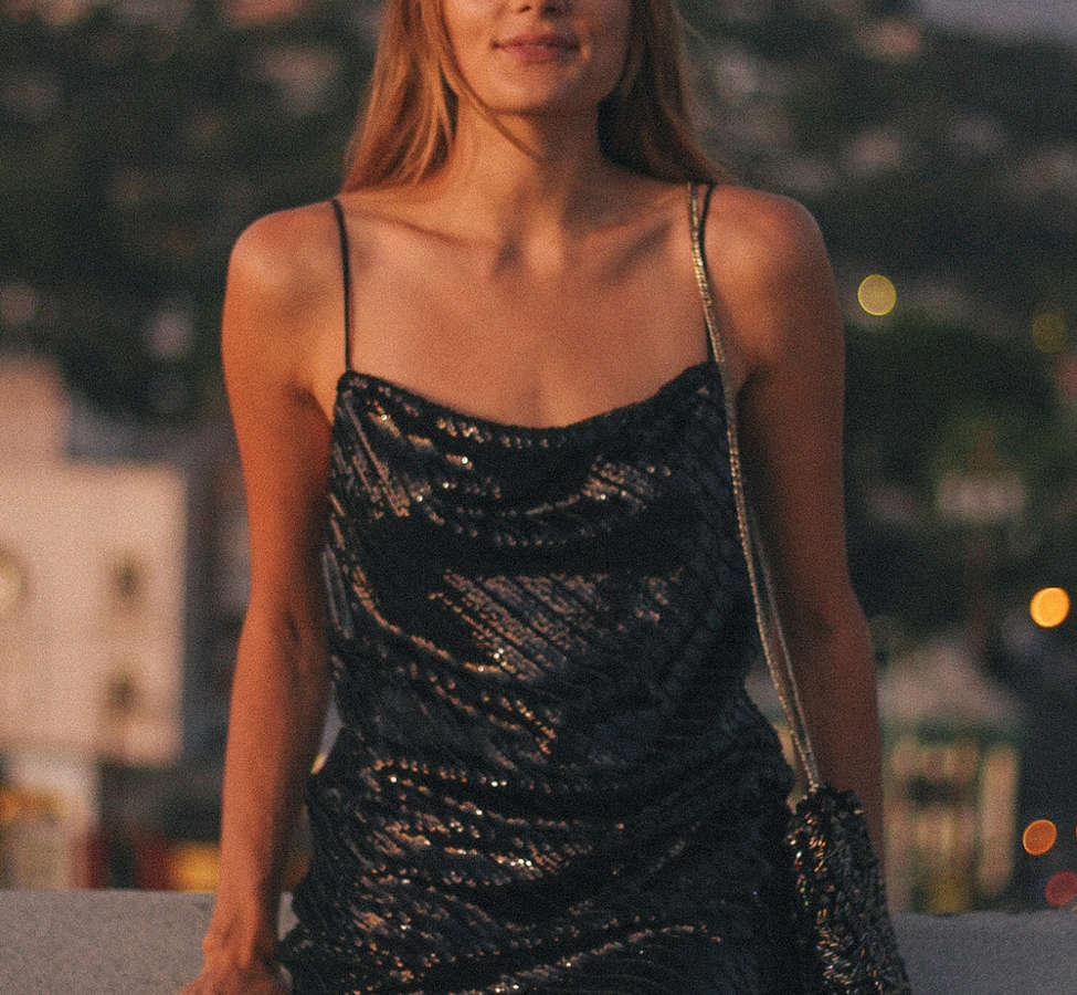 Slide View: 1: Bardot Emmie Sequin Mini Dress
