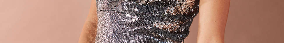 Thumbnail View 5: Bardot Plunging Sequin Dress