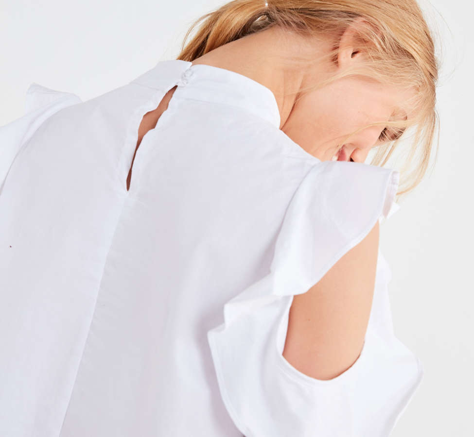 Slide View: 4: Ghospell White Lies Cold-Shoulder Top