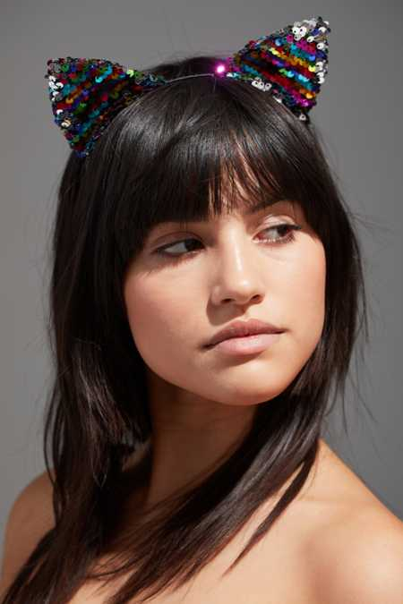 Sequin Cat Ear Headband
