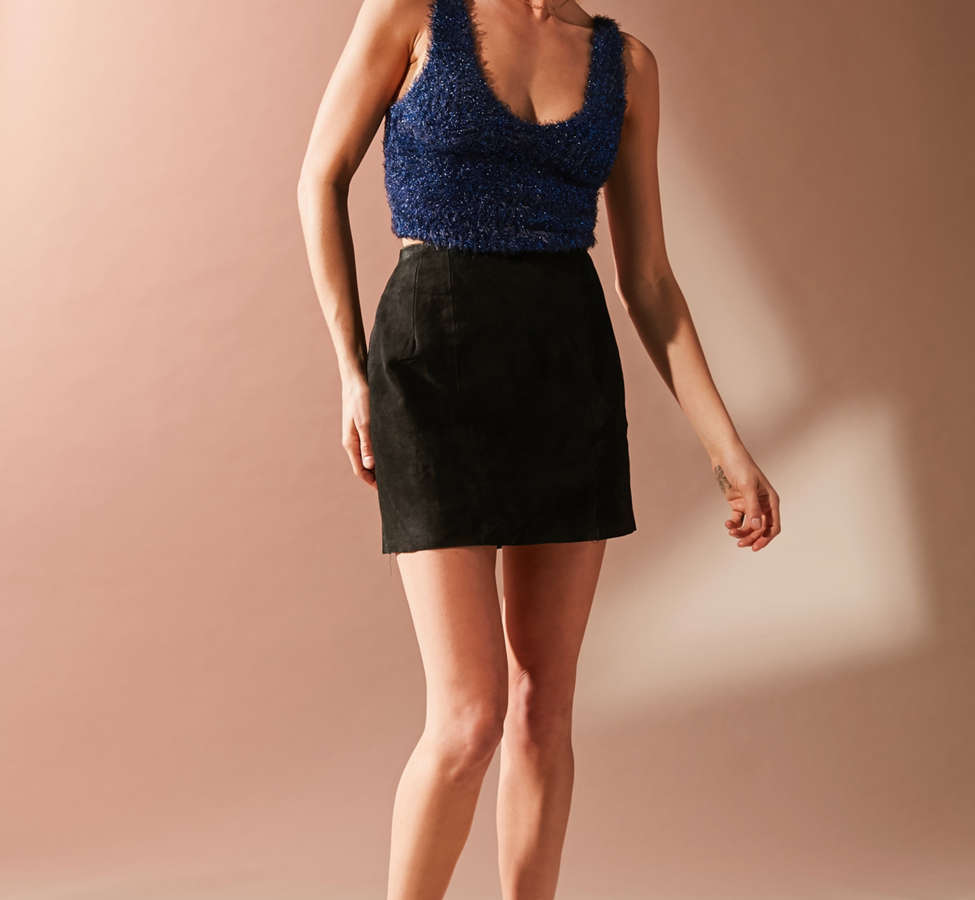 Slide View: 2: UO Valerie Fuzzy Sparkle Tank Top