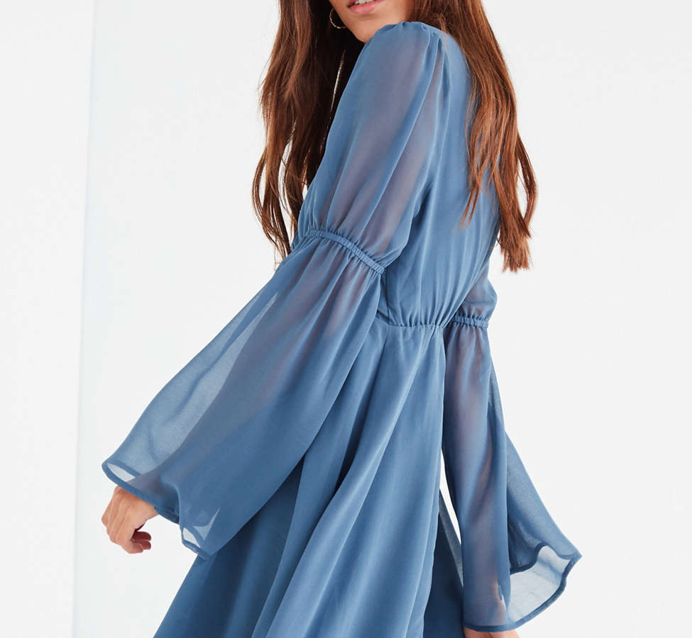 Slide View: 2: Lucca Couture Empire Waist Bell-Sleeve Dress