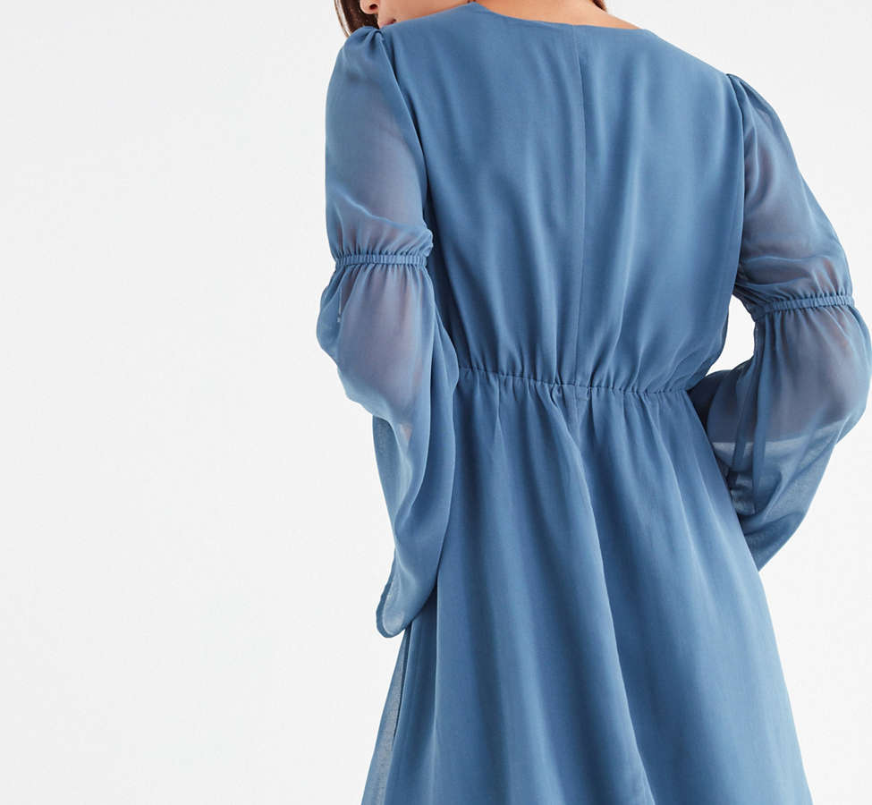 Slide View: 5: Lucca Couture Empire Waist Bell-Sleeve Dress