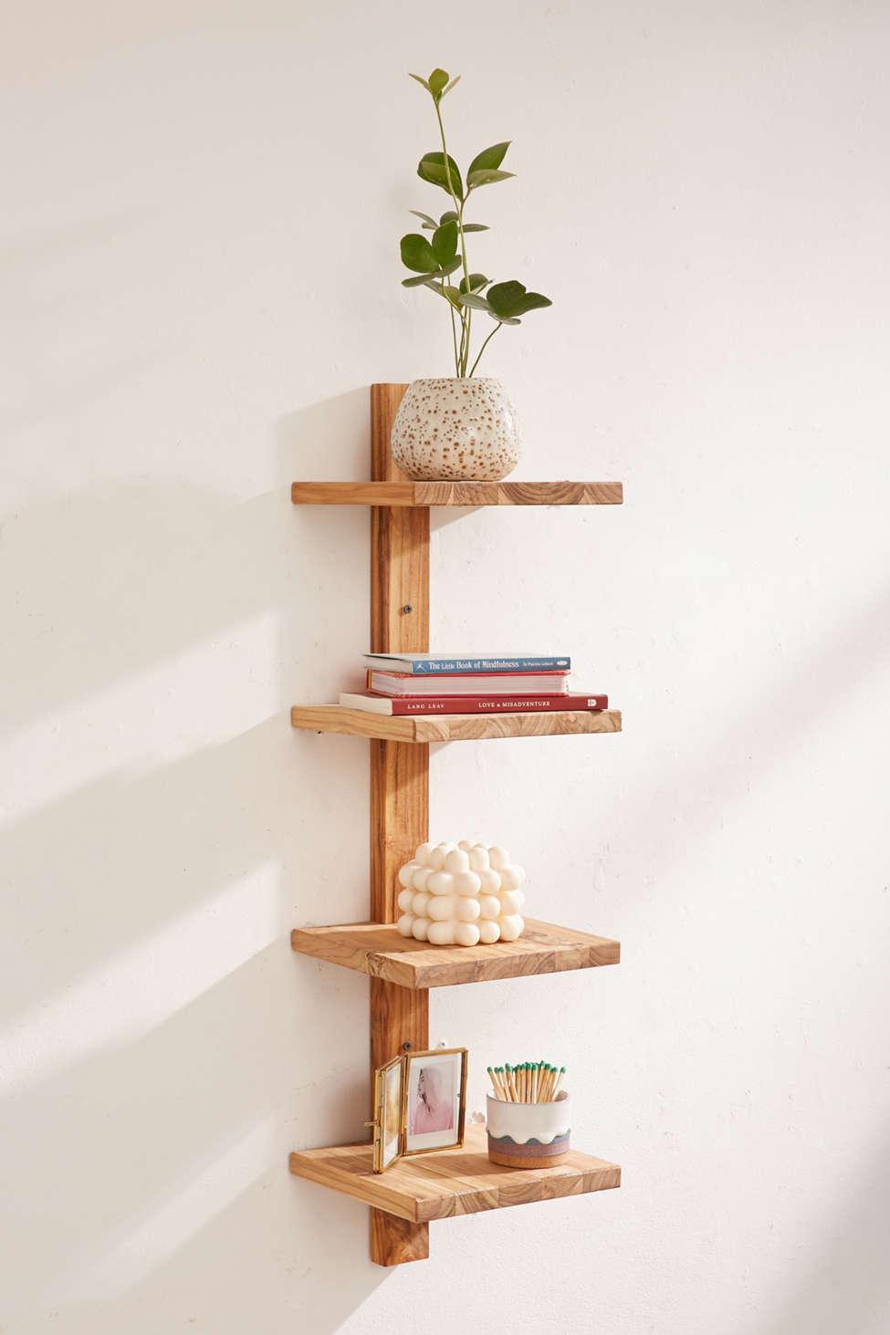 Slide View: 1: Takara Column Wood Shelf