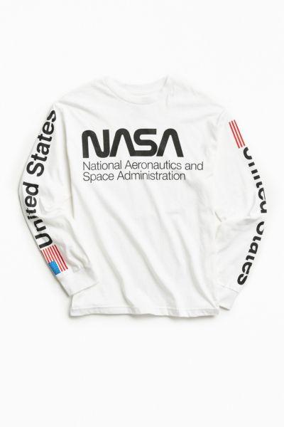 Nasa Worm Logo Long Sleeve Tee Urban Outfitters
