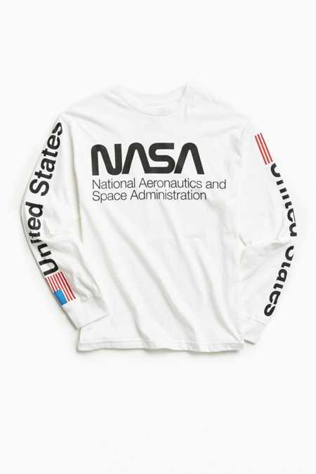 NASA Worm Logo Long Sleeve Tee