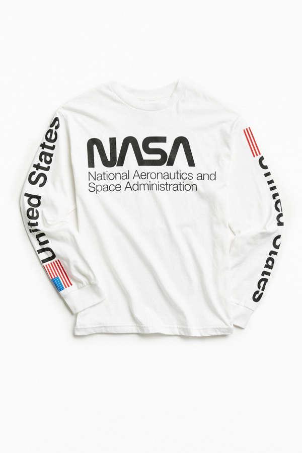 NASA Worm Logo Long Sleeve Tee | Urban Outfitters