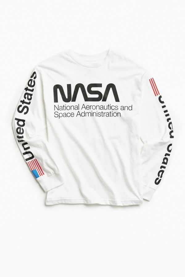 Slide View  1  NASA Worm Logo Long Sleeve Tee 10e03b5cc77