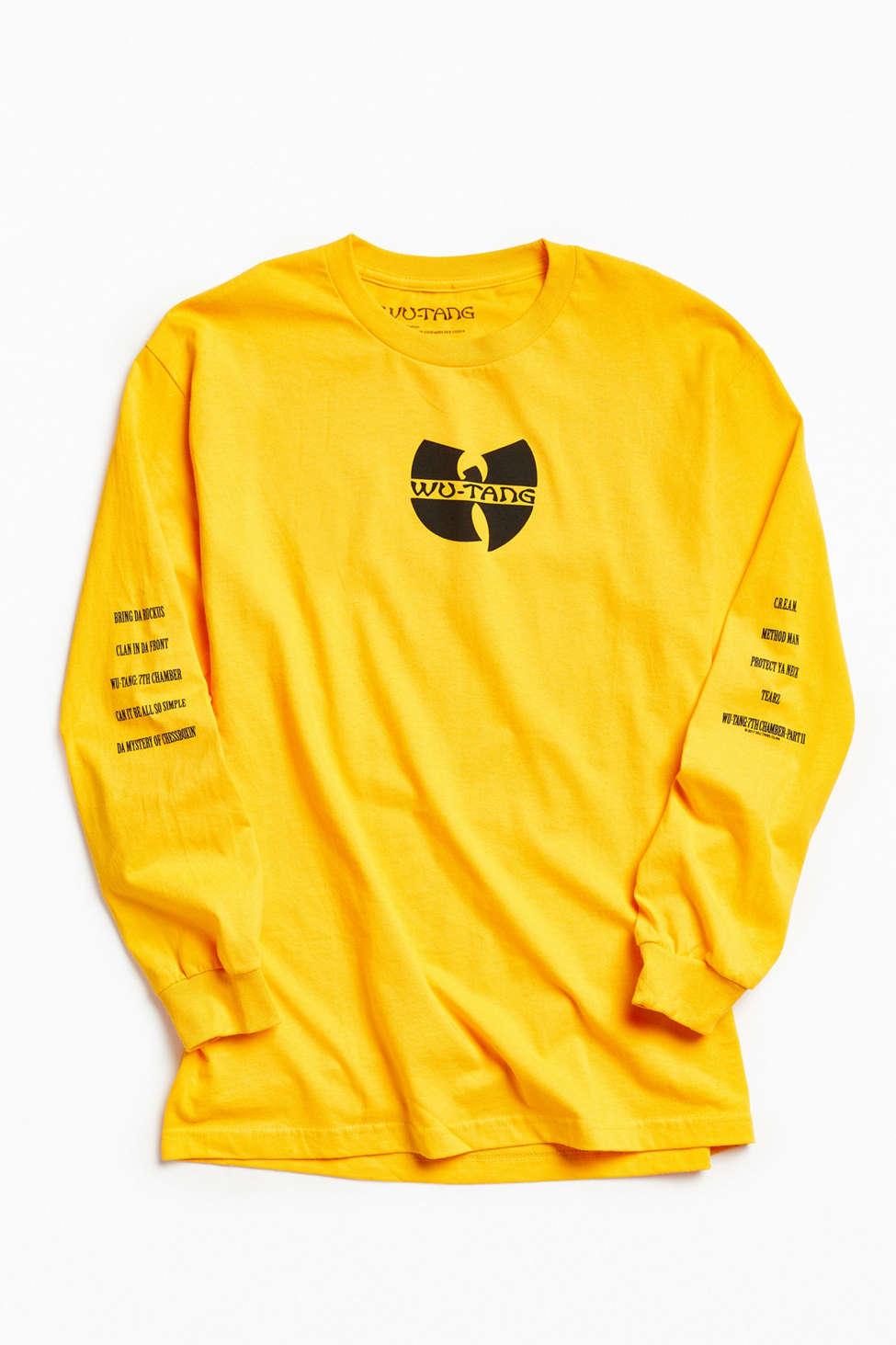Yellow Long Sleeve T Shirt Men