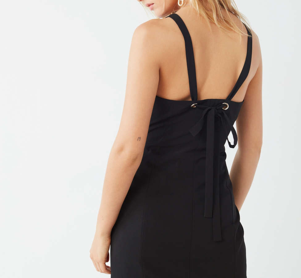 Slide View: 2: UO Tie-Back Bodycon Mini Dress