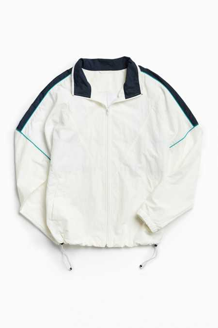 UO Mixed Fabric Crinkly Windbreaker Jacket