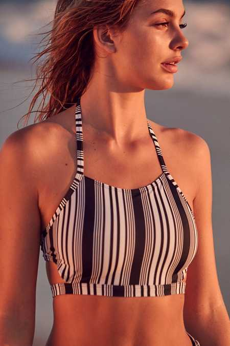 Out From Under Printed High Neck Bikini Top