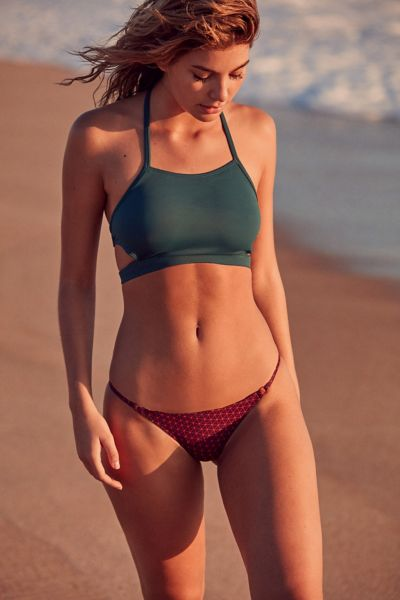 Out From Under High Neck Bikini Top - Dark Turquoise S at Urban Outfitters
