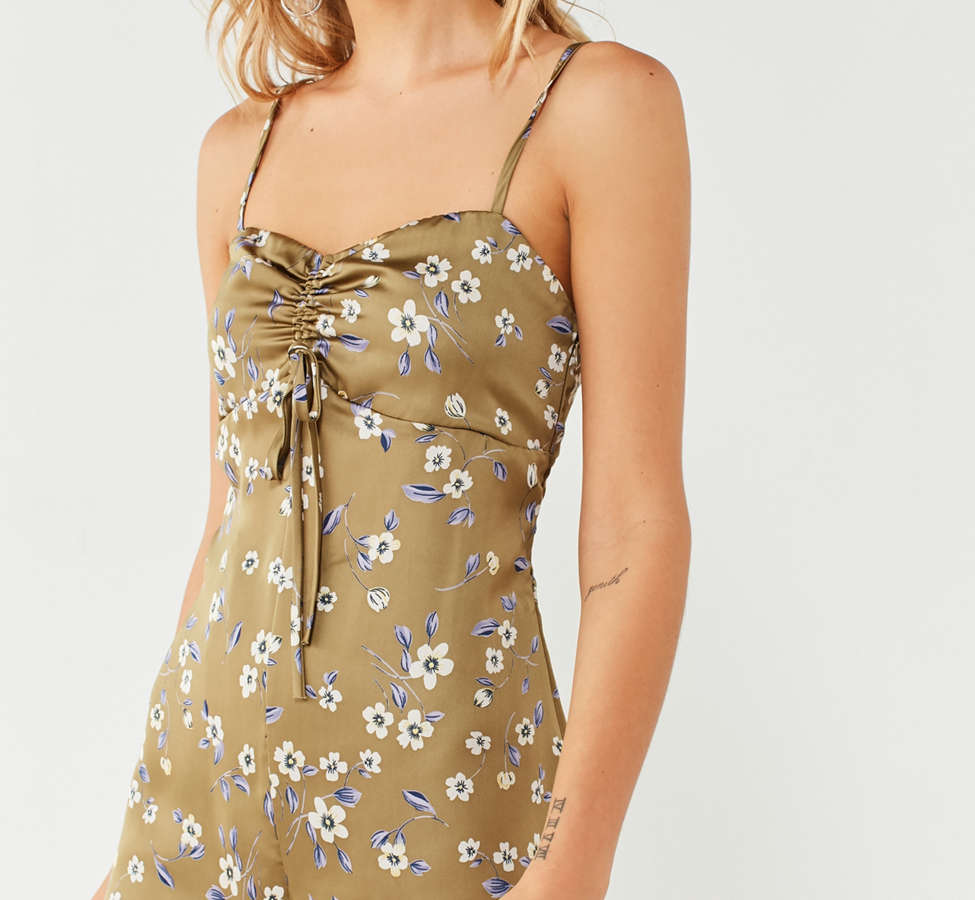 Slide View: 1: UO Empire Waist Cinched Romper