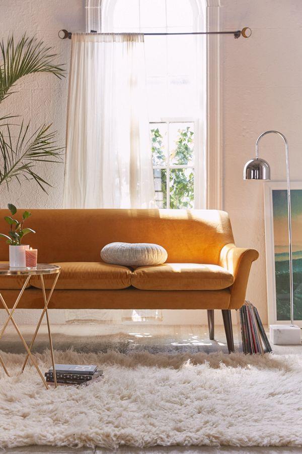 Slide View 1 Eleanor Velvet Sofa