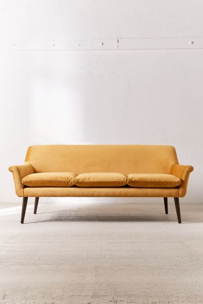 Eleanor Velvet Sofa Urban Outfitters