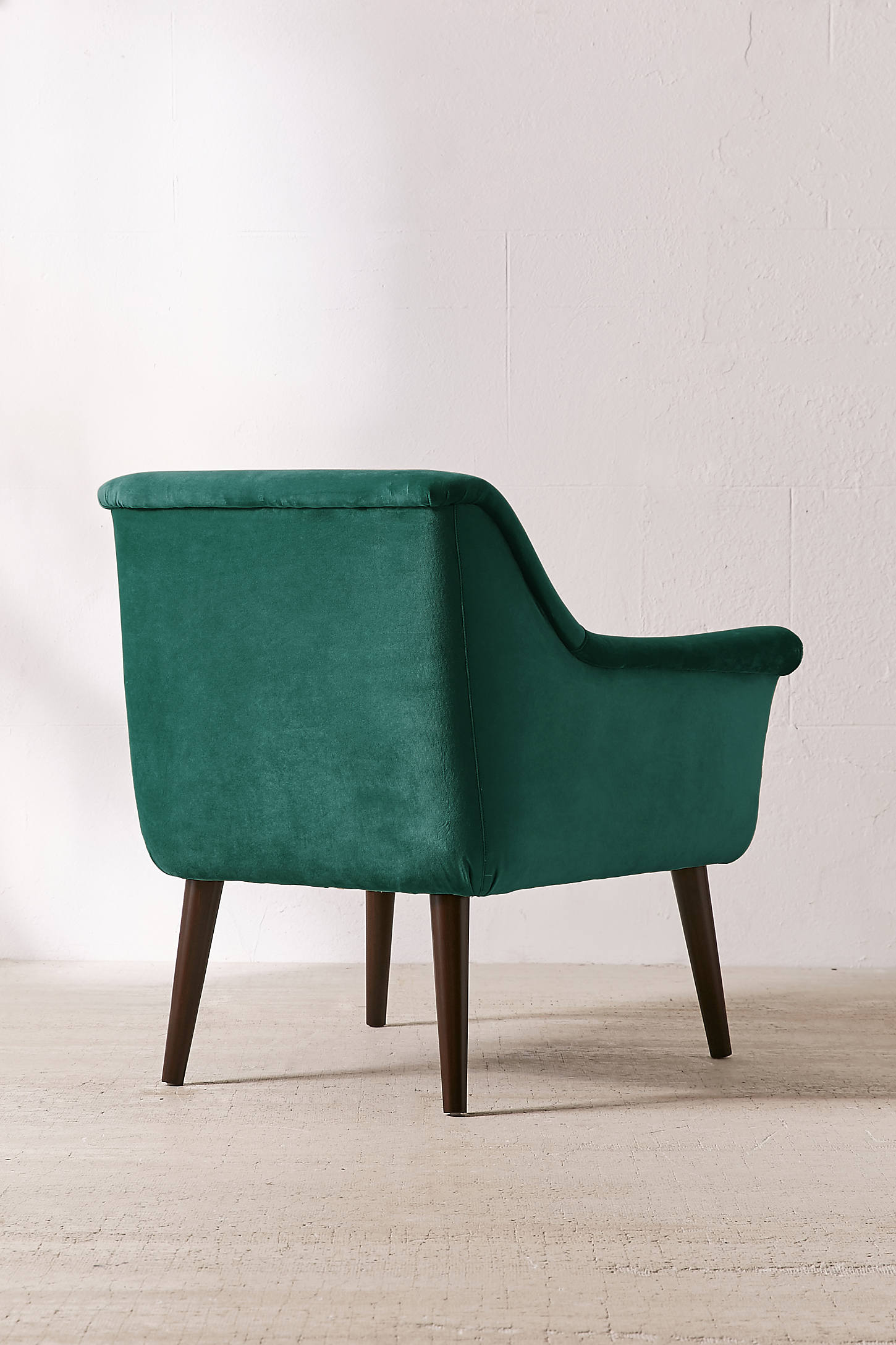Teal Chair Eleanor Velvet Arm Chair Urban Outfitters