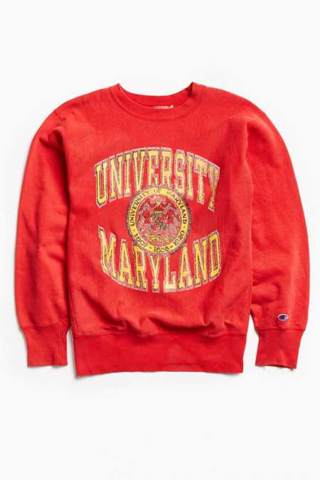 Vintage University Of Maryland Crew Neck Sweatshirt