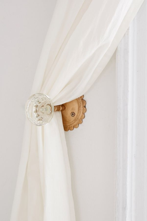 Slide View: 2: Crystal Door Knob Curtain Tie-Back