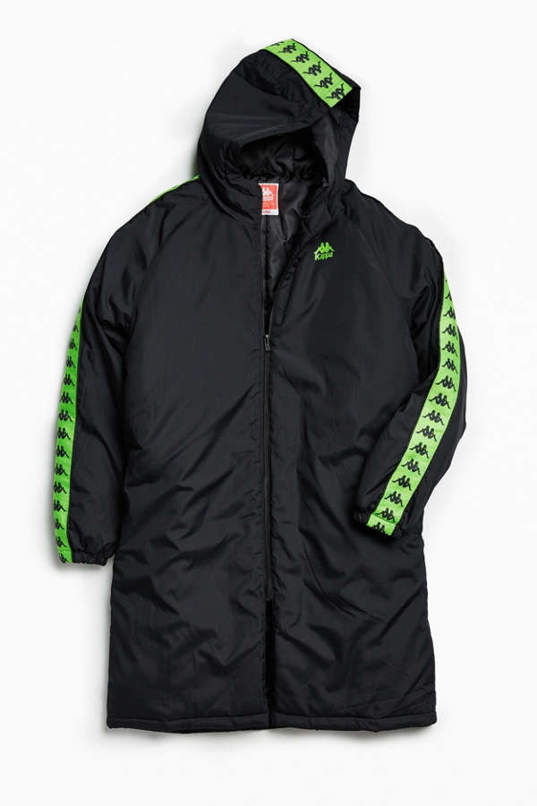 Kappa X UO Hooded Parka Jacket   Urban Outfitters