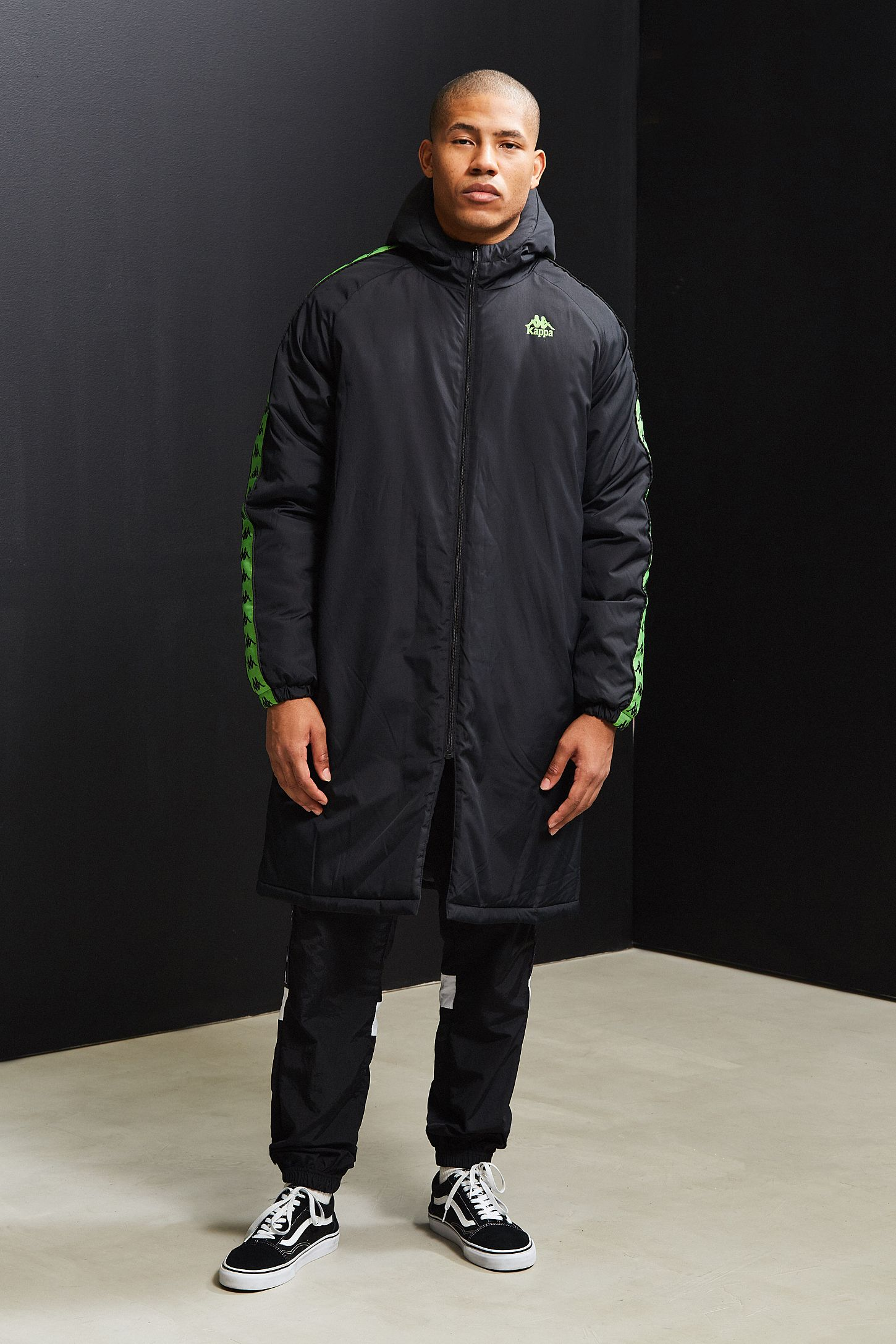 Kappa X UO Hooded Parka Jacket | Urban Outfitters