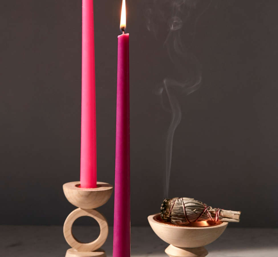 Slide View: 1: Harlan Taper Candle + Incense Holder