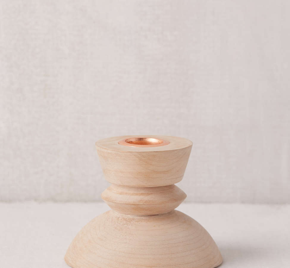 Slide View: 4: Harlan Taper Candle + Incense Holder