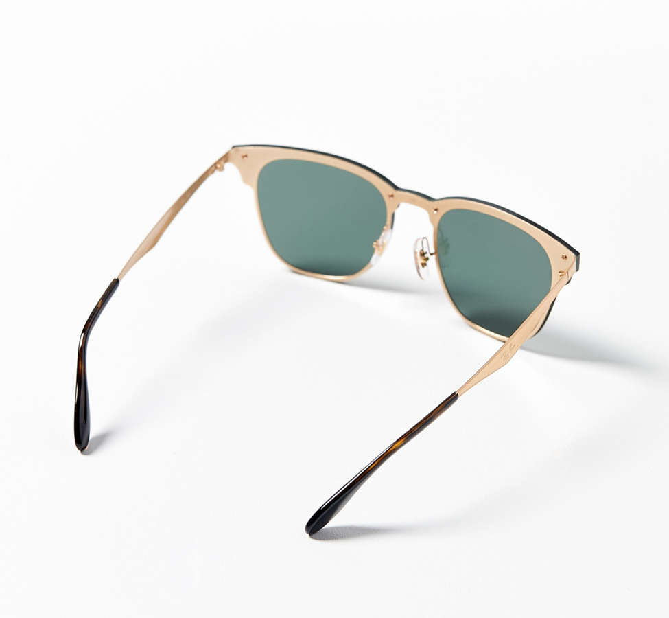 Slide View: 3: Ray-Ban Blaze Clubmaster Shield Sunglasses