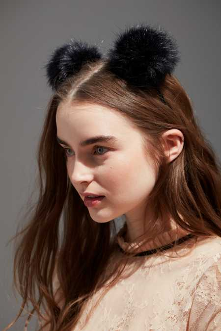 Fluffy Pompom Ear Headband